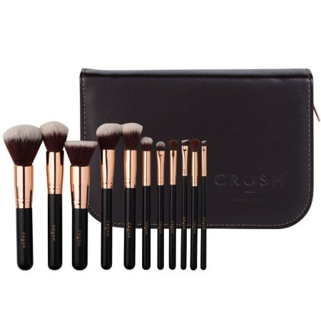 Crush Cosmetics 11 Piece Rose Gold Brush Set