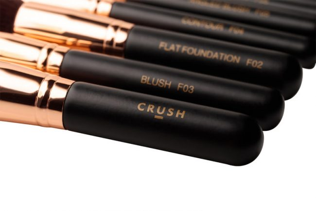 Crush Cosmetics 11 Piece Rose Gold Brush Set