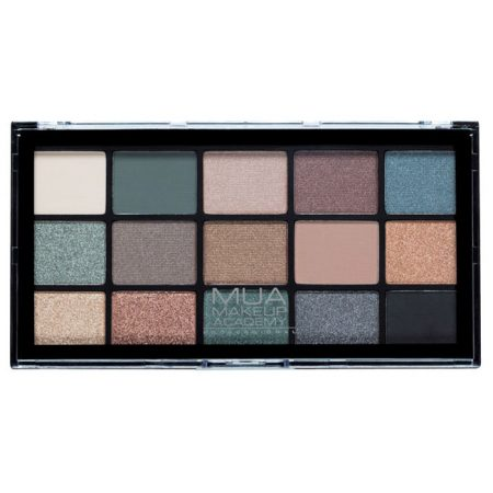 MUA Professional 15 Shade Eyeshadow Palette - Green Goddess