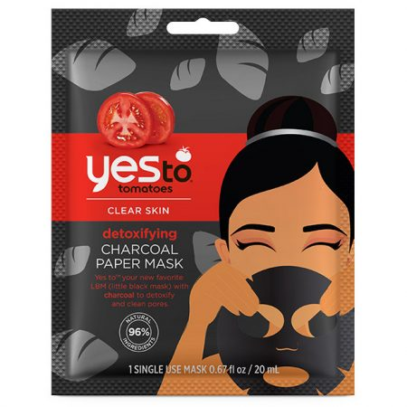 Yes To Tomatoes Detoxifying Charcoal Paper Mask – Single Use